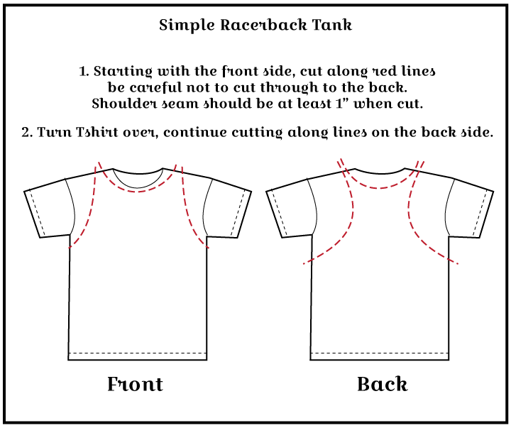 racerback amy nicole studio 6 ways to cut a t shirt shirt diagram at n-0.co