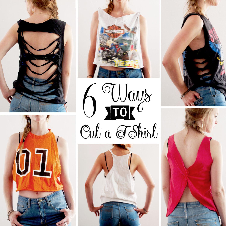 6 Ways To Cut A T Shirt Amy Nicole Studio