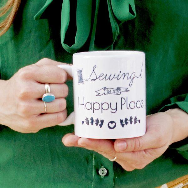 Sew Happy Place Mug