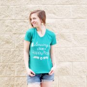 Happy Place Green Tee