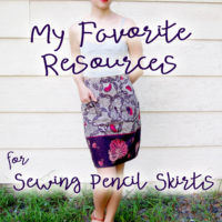 My Favorite Resources for Sewing Pencil Skirts
