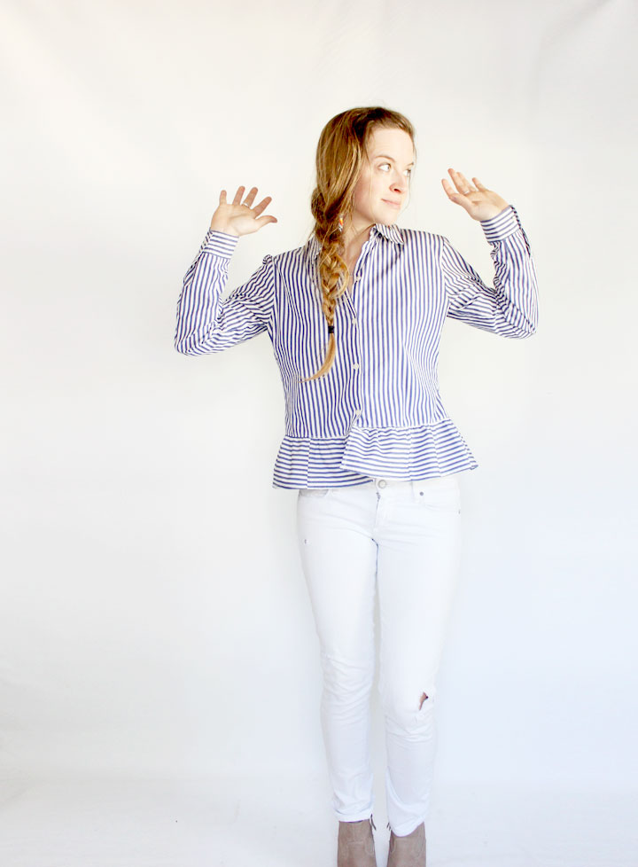 refashioned button down