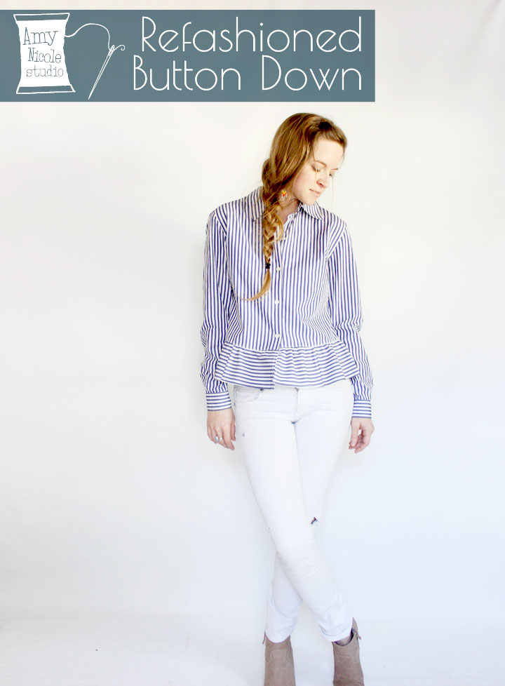 refashioned button down shirt