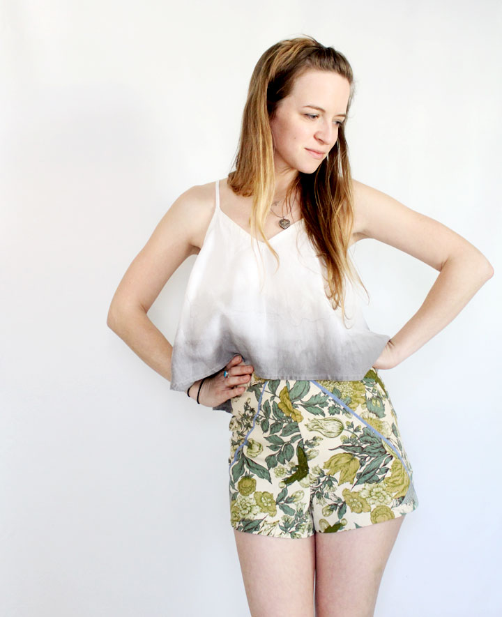 shorts with piping