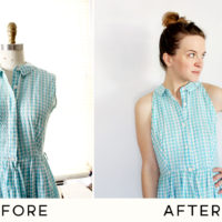 A Simple Vintage Dress Alteration