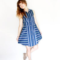 Alternating Stripes Alder Shirtdress