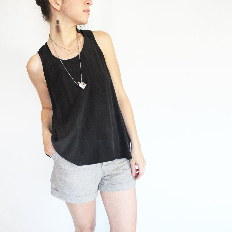 linen handmade shorts