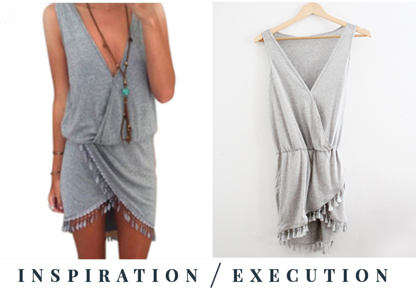 grey tassel dress