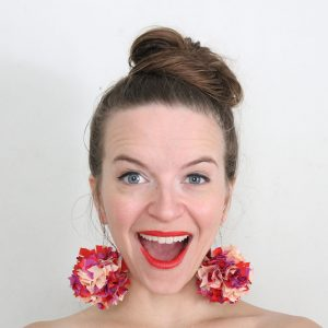 DIY Eco Friendly Pom Pom Earrings with Fabric Scraps